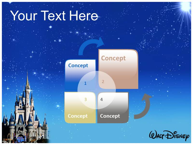 Disney World Powerpoint Template Background Of Cartoon