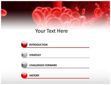 blood powerpoint template 06840
