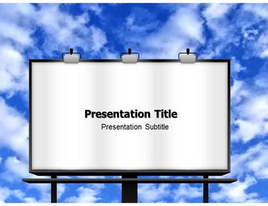 Advertising Poster PowerPoint Template, PowerPoint Presentation ...