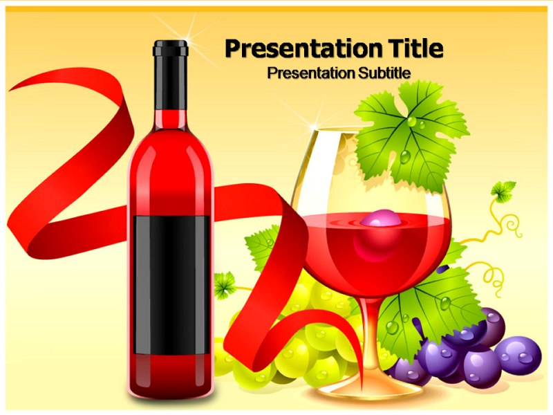 Wine menu powerpoint templates and backgrounds download toneelgroepblik Gallery