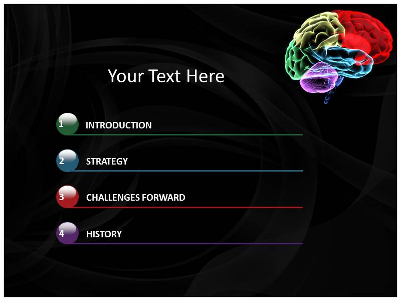 Image of Colorful Brain with PowerPoint Templates Backgrounds of – Brain Powerpoint Template