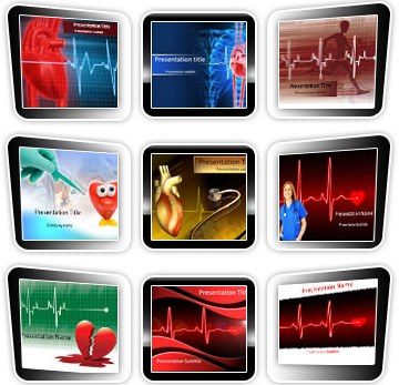 Medical powerpoint templates - Cardiology Template Bundle