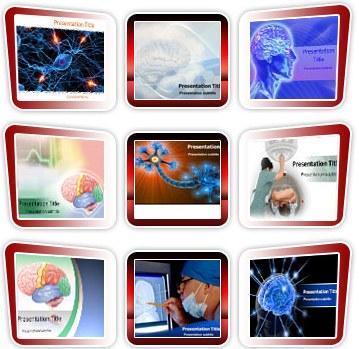 Medical powerpoint templates - Neurology Template Bundle