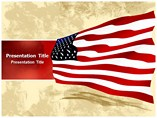 American Flag PowerPoint Layouts