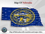 Map of Nebraska State - PPT Templates