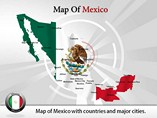 Editable Map Of  Mexico PowerPoint Template