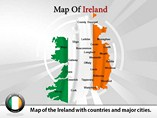 Map of Ireland Templates For Powerpoint