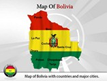 Map of Bolivia Templates For Powerpoint