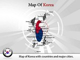 Map of Korea Templates For Powerpoint