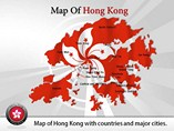 Hong Kong Map Powerpoint (PPT) Template