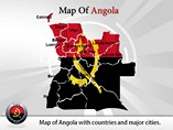 Map of Angola Templates For Powerpoint