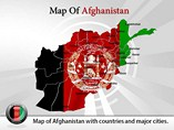 Afghanistan map template