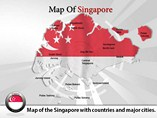 Maps Singapore Templates For Powerpoint