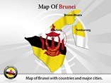 Map of Brunei Templates For Powerpoint