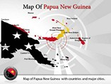 Map of Papua New Guinea Templates For Powerpoint
