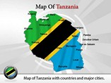 Tanzania Map Templates For Powerpoint