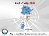Editable Map of Argentina  PowerPoint Template