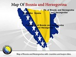 Map of Bosnia Powerpoint Template