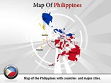 Map of Philippines Powerpoint (PPT) Template
