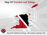 Trinidad Tobago Maps Powerpoint (PPT) Template