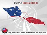 Map of Samoa Islands Templates For Powerpoint