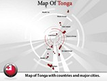 Map of Tonga Islands Templates For Powerpoint