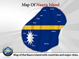 Map of Nauru Islands Templates For Powerpoint