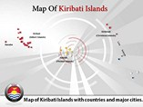 Kiribati Islands Map Powerpoint (PPT) Template