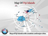 Fiji Island Map Powerpoint (PPT) Template