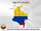 Colombia Map Powerpoint (PPT) Template