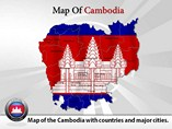 Map of Cambodia Templates For Powerpoint