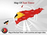 Map of East Timor Templates For Powerpoint