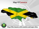 Map of Jamaica PowerPoint Layouts