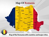 Map of Romania Templates For Powerpoint