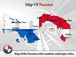 Map of Panama Templates For Powerpoint