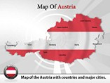 Austria Map Powerpoint  Template