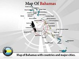 Map of Bahamas Templates For Powerpoint
