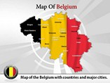Belgium Map Powerpoint  Template