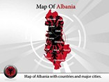 Map of Albania Templates For Powerpoint