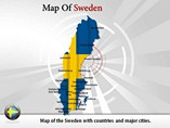 Map of Sweden Templates For Powerpoint