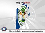 Belize Map Powerpoint(PPT) Template