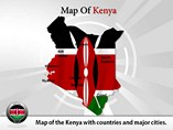 Map of Kenya Templates For Powerpoint
