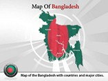 Map of Bangladesh Templates For Powerpoint