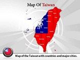 Map of Taiwan Templates For Powerpoint