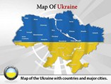 Map of Ukraine Templates For Powerpoint