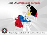 Map of Antigua and Barbuda Templates For Powerpoint