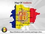 Map of Andorra Templates For Powerpoint