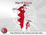 Map of Bahrain Templates For Powerpoint