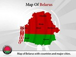 Map of Belarus Templates For Powerpoint