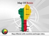 Map of Benin Templates For Powerpoint
